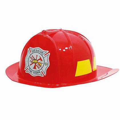 Casque de pompier adulte rouge