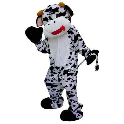 Mascotte de vache à tête souple