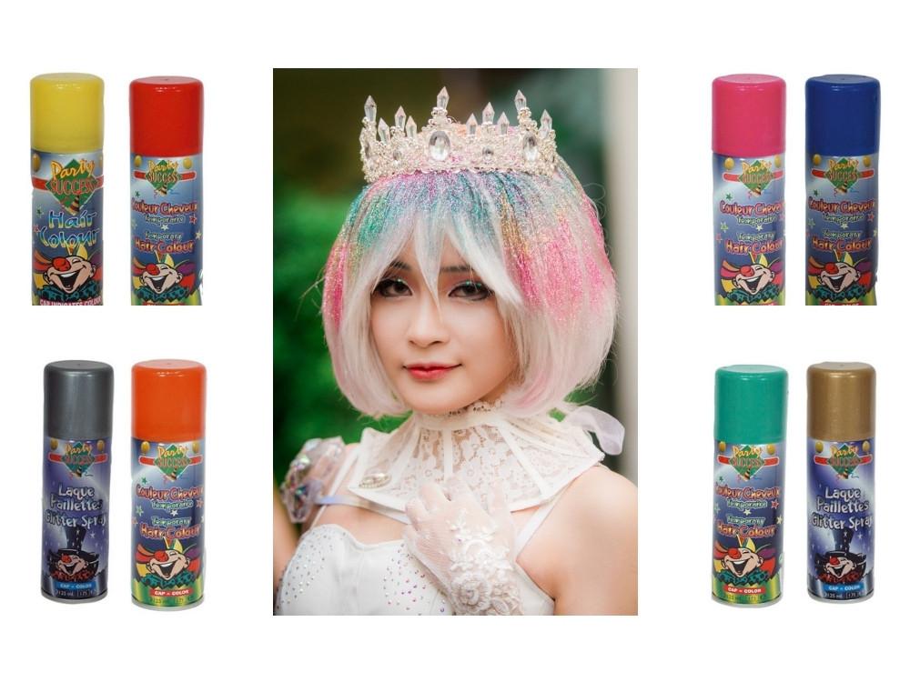 aérosol colorant éphémère pour cheveux