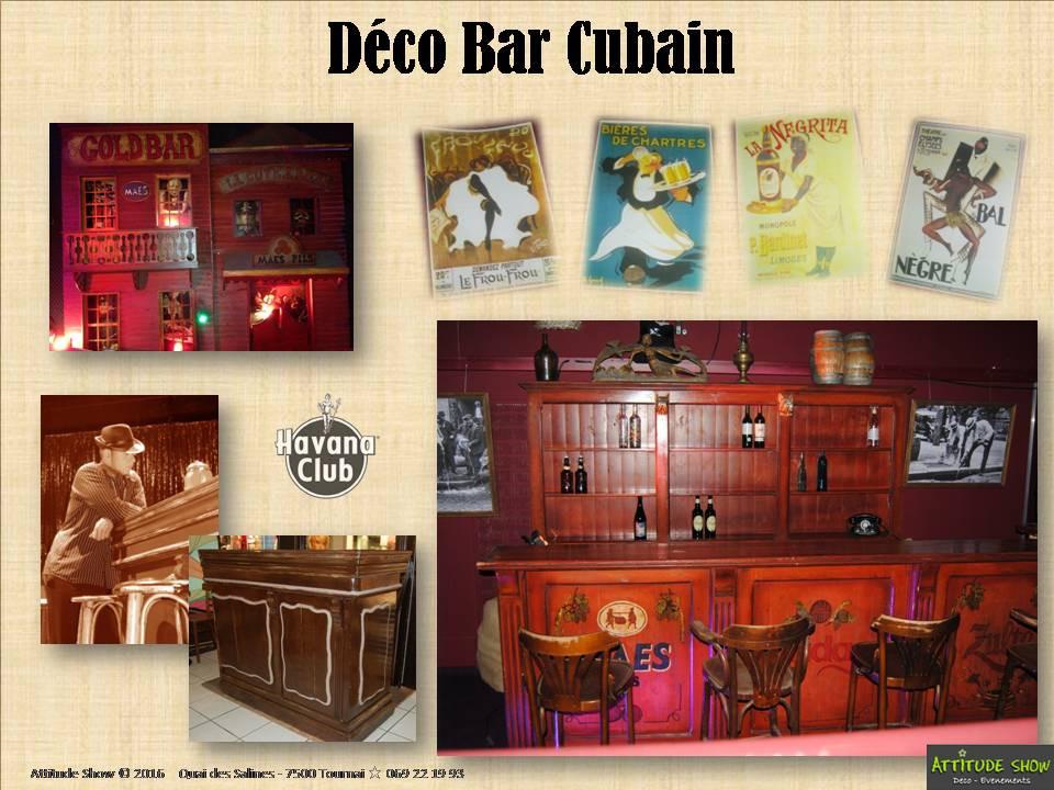 location décor bar cubain