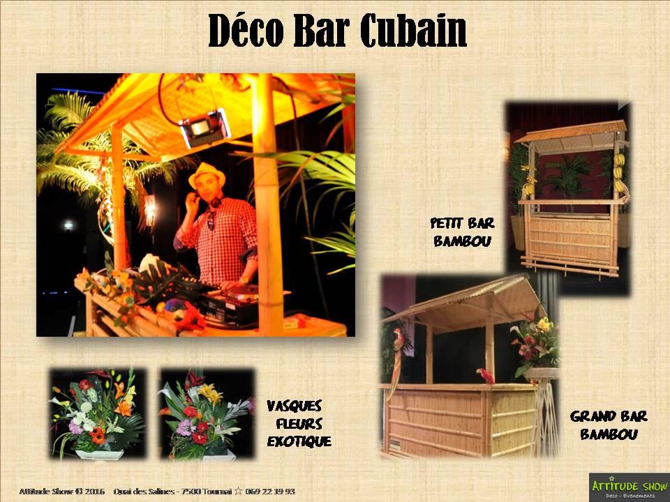 location décor bar cuba