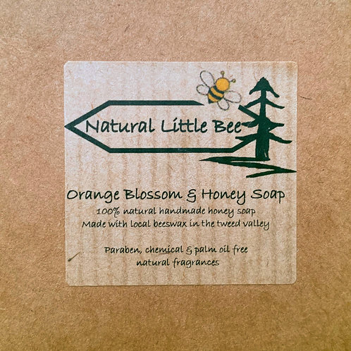 natural little bee orange blossom and honey soap box with all natural fragrance and essential oils