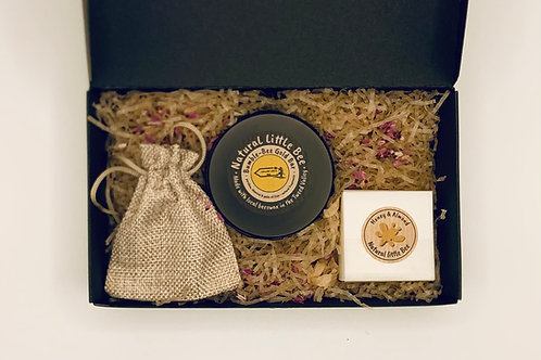 bumble bee gold bar and almond soap in gift box