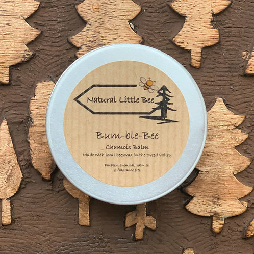 natural little bee bum-ble bee chamois balm tin all natural ingredients teatree chamomile perfect for long ride sensitive