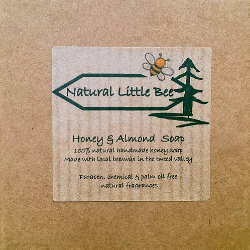 natural little bee honey and almond soap moisturizes sensitive skin no parabens or SLS's