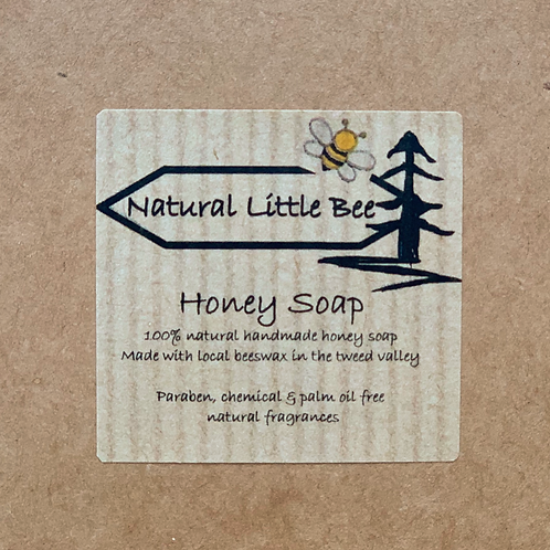 natural little bee honey bee soap package allergen free cold process soap with raw ingredients to nourish skin