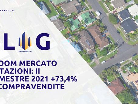 É BOOM MERCATO ABITAZIONI: SECONDO TRIMESTRE 2021 +73,4% LE COMPRAVENDITE