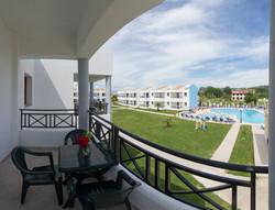 Classic double balcony