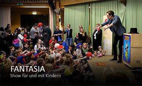 Kinderzaubershow (Kindergeburtstag) Fantasia Kinderzauberer, Clown Florian Granzner