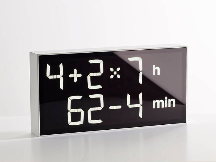 Albert Clock Lucid White front