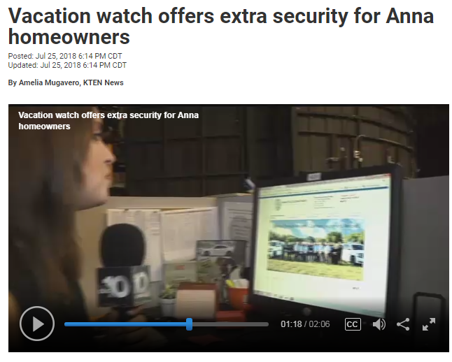 New Anna TX PD Social Media Platform Generating Positive Coverage of APD Programs/Events by Local Ne