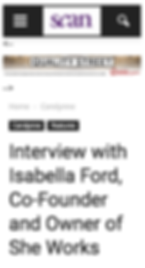 SCAN Interview with Isabella Ford