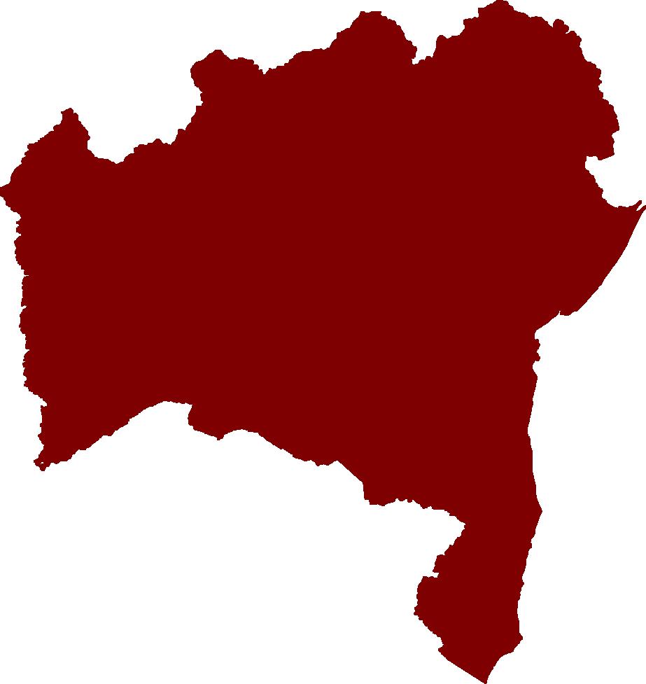 Mapa estado da Bahia