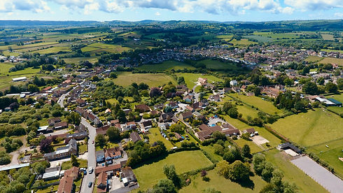 English countryside, concept of farming