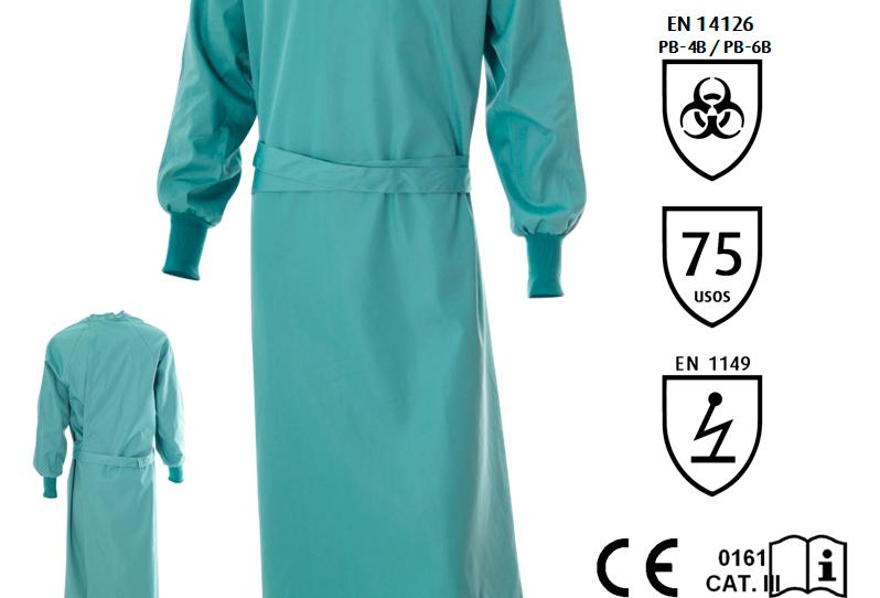 Bata quirúrgica reutilizable - EPI