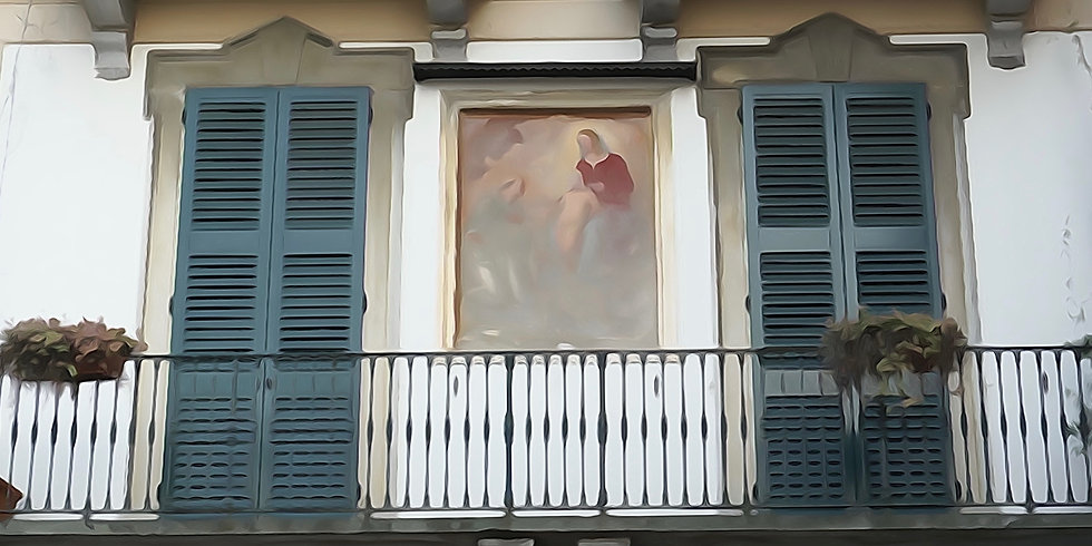 Italian Shutters with Madonna