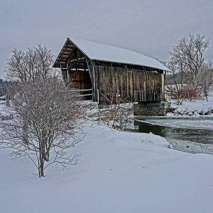Winter Covered Bridge (made to order)
