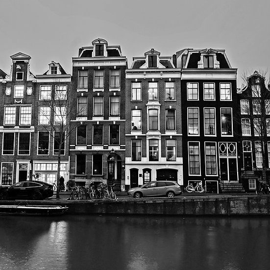 Amsterdam Houses B/W