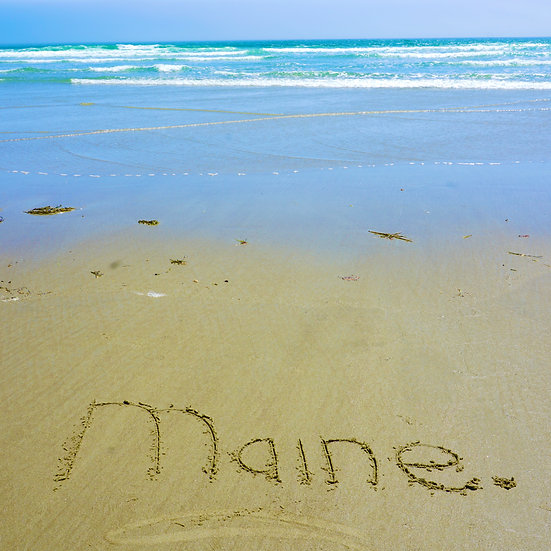 Maine in Sand