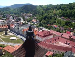 Vyhlad z Kremnickeho hradu na mesto