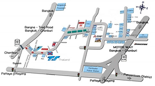 location map of TS Thailand