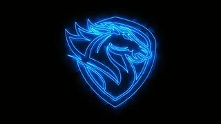 blue-burning-head-horse-animated-footage