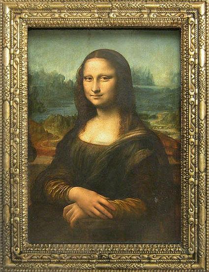 Mona Lisa, painted by Leonardo Da Vinci