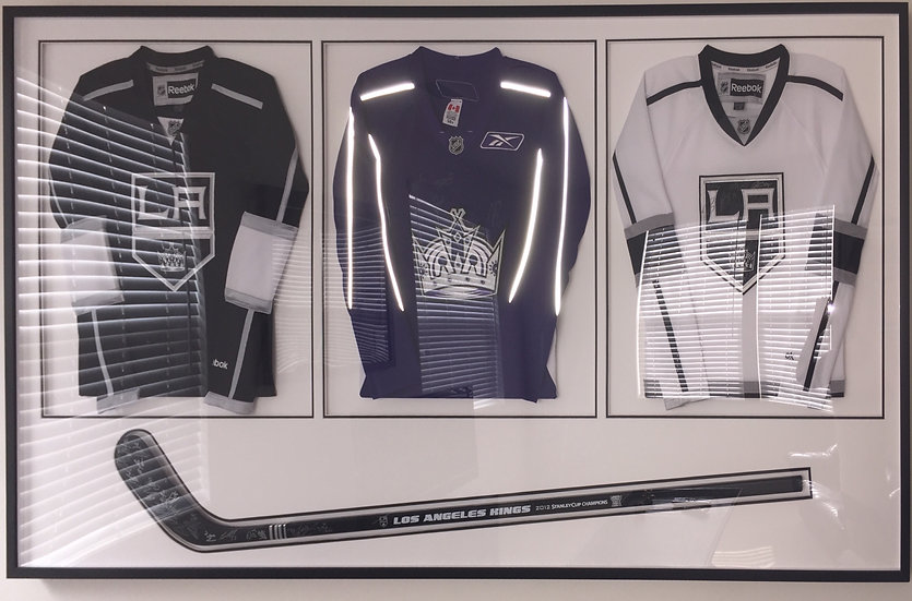 2012 Stanley Cup - LA Kings Signed Jerseys & Stick
