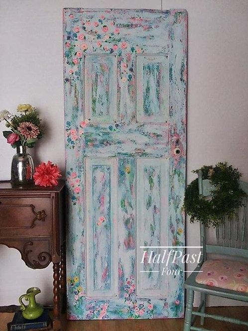 Hand Painted Floral Door