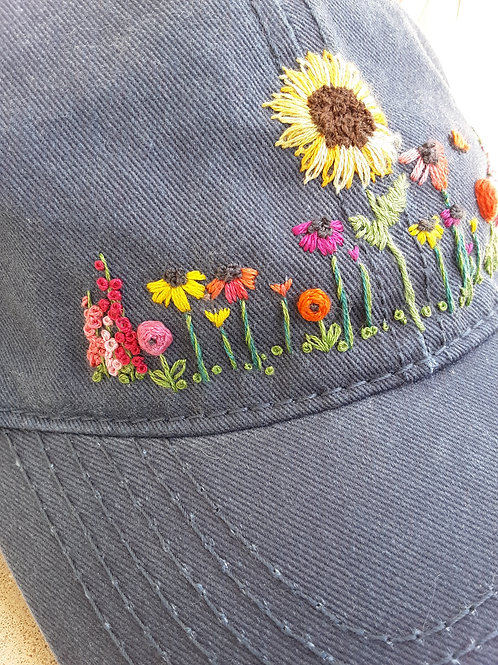 Hand embroidered hat