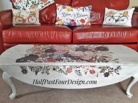 Part 2 of my new old coffee table makeover