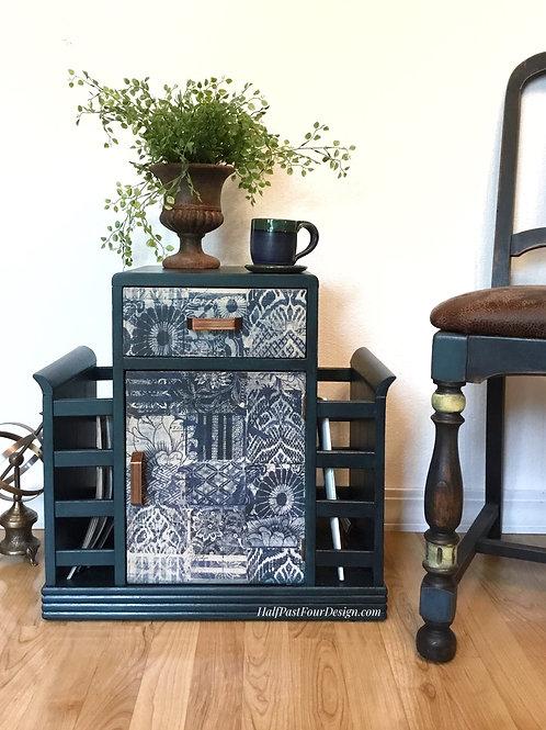 Boho Side Table Humidor Cabinet