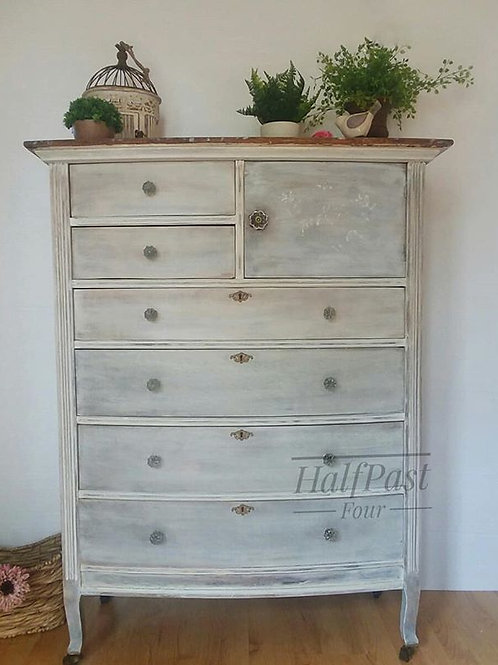 Whitewashed Antique Chest of Drawers