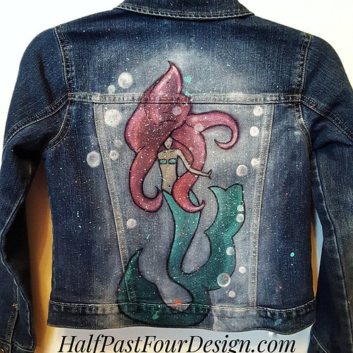 Hand Painted Children's Denim Jacket