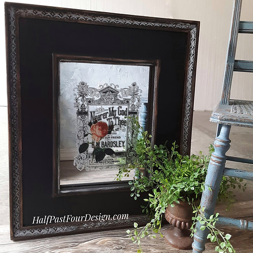 Heavy Framed Antique Mirror