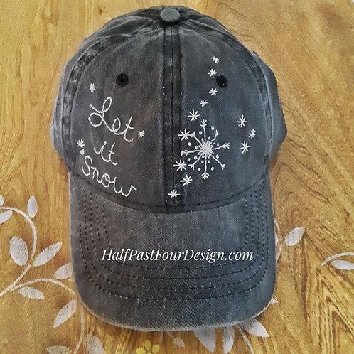 Let it Snow ballcap