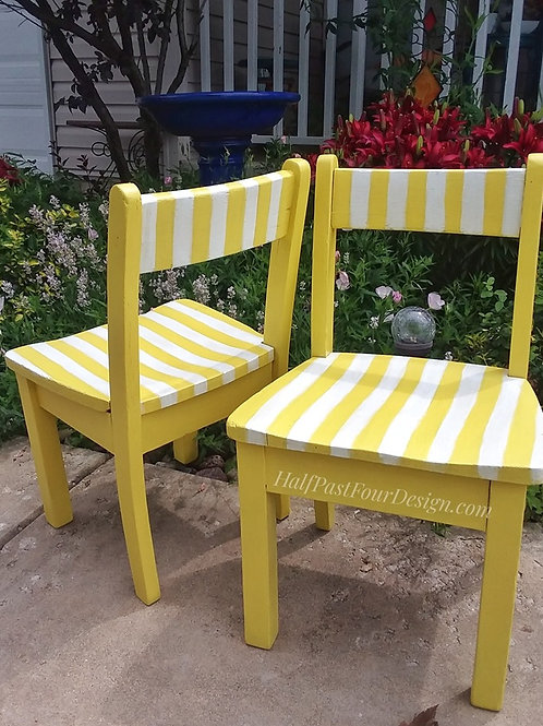 Sunny Striped Children's Chairs