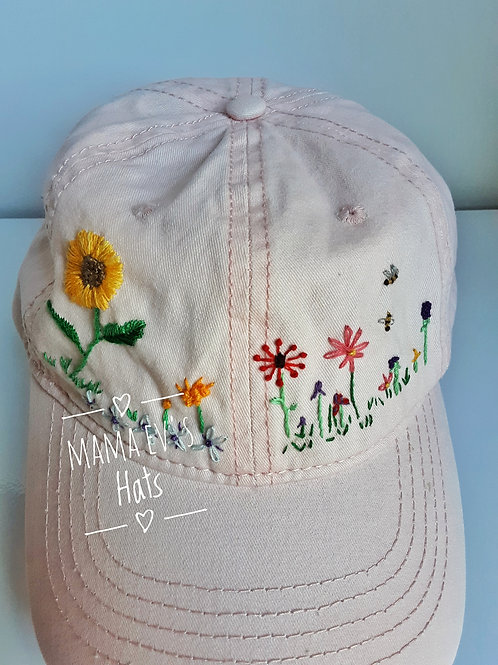 Mama Ev's Hand Embroidered Hat