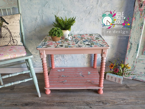 Blooms and Birds Side Table
