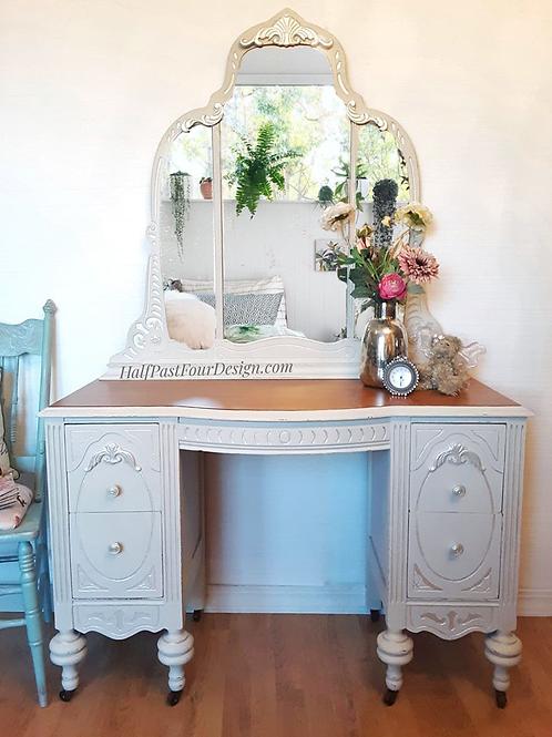 Antique Creamy White Vanity