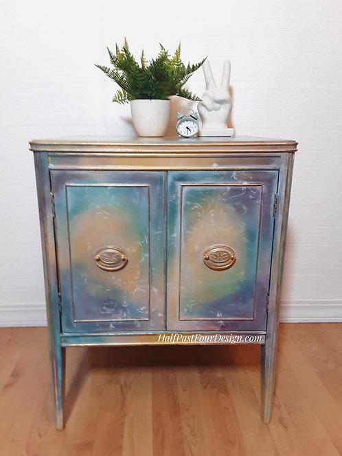 Aurora. Vintage Mahogany Record Cabinet.