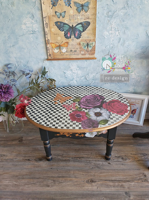 Floral Checked Coffee Table