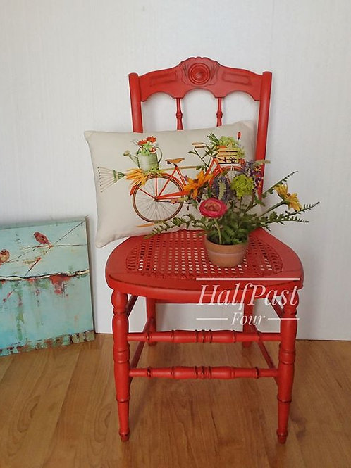 Chair Painted in Poppy