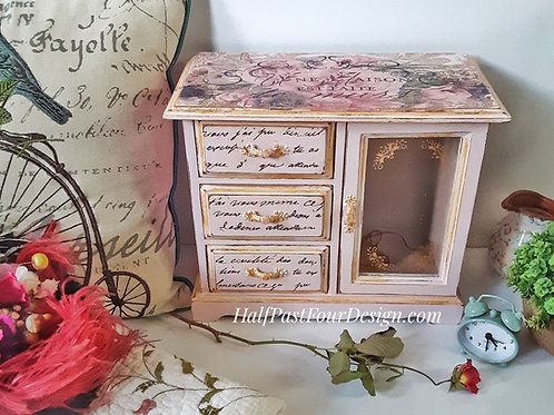 Musical French Country Romantic Jewelry Box