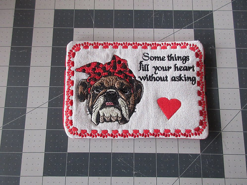 Coaster/Mouse Pad - Bulldog