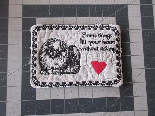 Coaster/Mouse Pad - Pomeranian