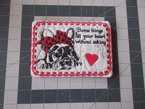 Coaster/Mouse Pad - French Bulldog
