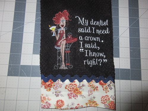 Dishtowel - I need a crown
