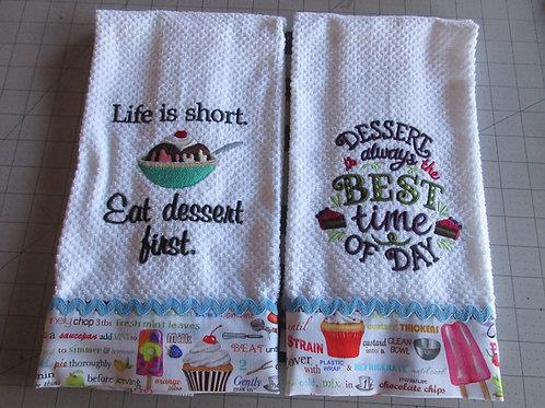Dishtowels - Eat Dessert First