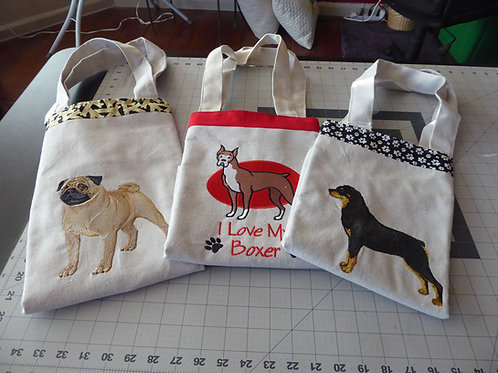 DOG BREED TOTE BAGS (C-G)